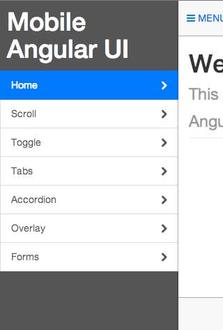 Mobile Angular UI - Angular JS Mobile UI framework with